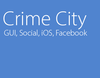 Crime City_Facebook, iPhone app