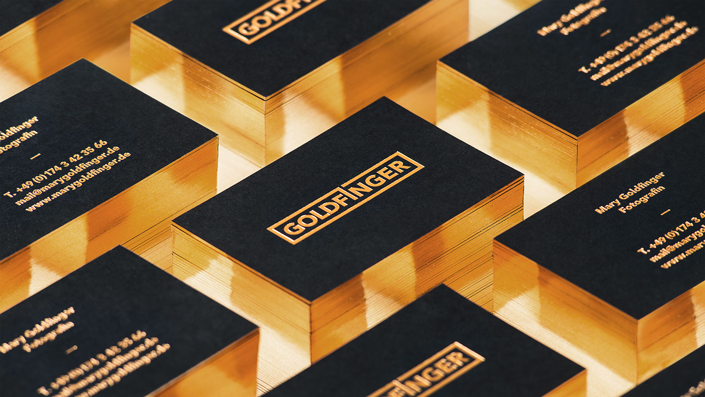 Goldfinger Business Cards