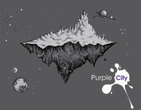 Purple City backgrounds & Characters