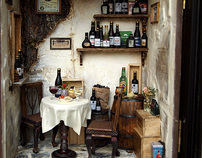 Vintage Country small Wine Shop -Ooak wine bar