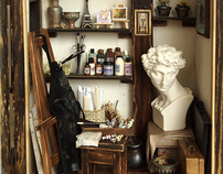The small studio, The space of art creation, Dollhouse