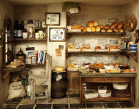 The Bakery -Vintage Country small bread shop- Miniature