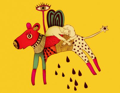Textile illustration for Ariel scarf 3
