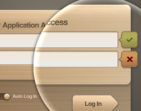 Free Wooden User Interface Log in