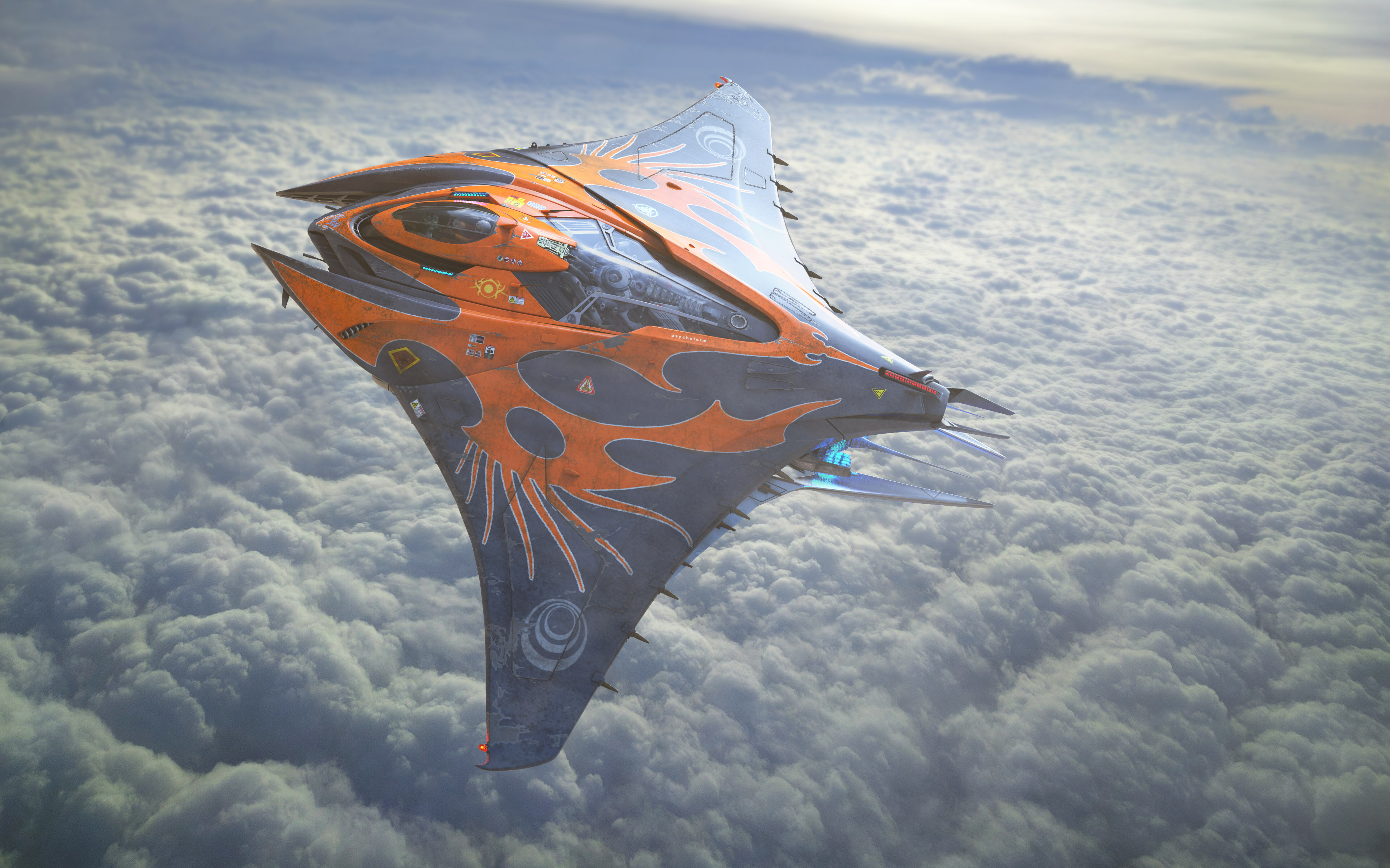 Mantaray Spaceship Concept