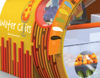 Watercolors Fruit Juice Kiosk