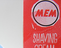 MEM - shaving cream - packaging