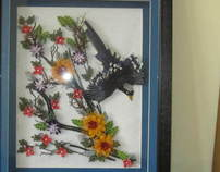 Quilled Bird Frame