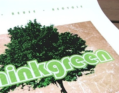 'thinkgreen' poster