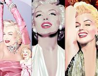 Marilyn Monroe Fan Art Digital Media - Set 2