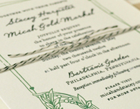 Garden Wedding Invite Suite
