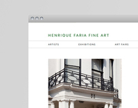 Henrique Faria Fine Art — Web design