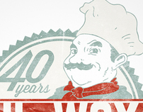 Hi Way Pizza 40th Anniversary Shirt Logo
