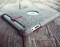 PaletteCase - A felt and leather case for the iPad