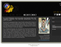 Web Design layout for Akef - Behind The Lens