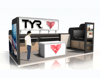 TYR 10x20 Linear Booth Exhibit