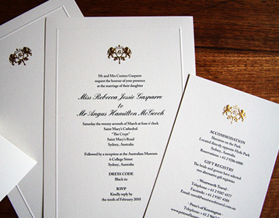 Wedding Stationery & Crest