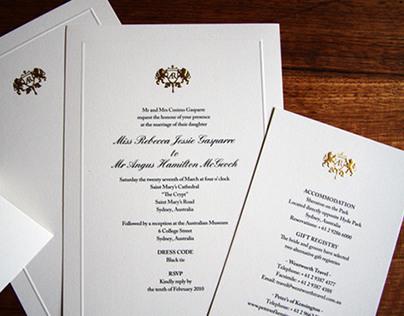 Wedding Stationery & Crest