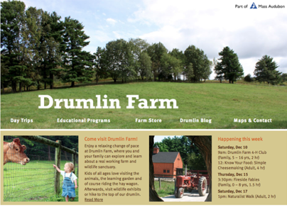 Drumlin Farm Website Redesign