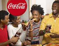 Coke at Home advertising photosession.