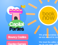 Capital Parties Website Design
