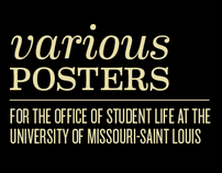 Various Posters for UMSLs Office of Student Life