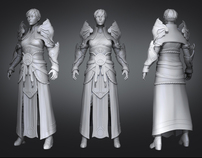 High resolution Female Monk from Diablo III