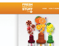 Fresh Healthy Stuff - Freelance Graphic / Web Design