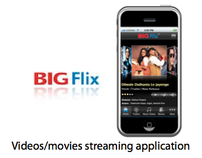BigFlix: Videos streaming application for iPhone