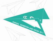 invitation design -annual exhibition and social 2011