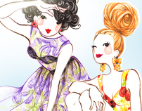 Fashion illustration - dolls