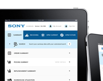 Sony dashboard   /  web , iphone , ipad  apps design