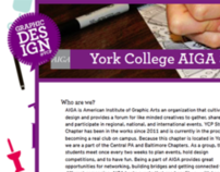 York College AIGA Student Group Website
