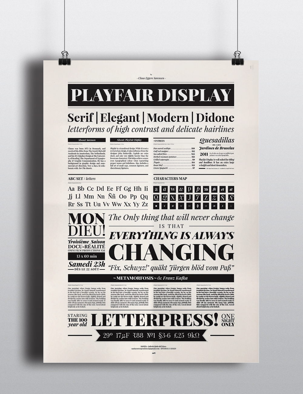 PlayFair Display Type Specimen
