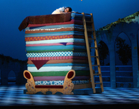 Once Upon a Mattress-- Set and Lighting Design