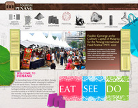 Website Design Interface - Penang Tourism Website