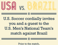 USA vs. Brazil Invitation
