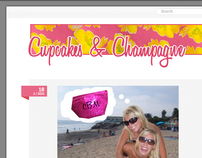 Cupcakes & Champagne Blog Design