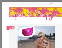 Cupcakes & Champagne Blog Design
