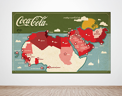 COCA-COLA * Wall Map