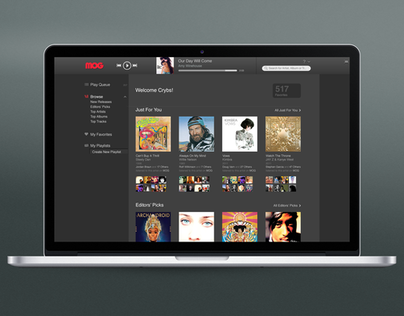 MOG Web & TV Apps