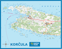 Tourist map - Korcula for the travel agency