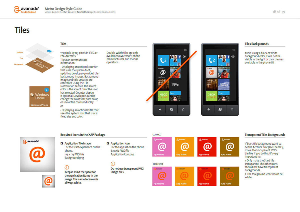 Avanade - Windows Phone Documents