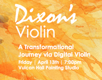 Dixons Violin Gig Poster