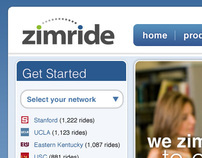 Zimride home page pitch