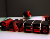3D typography experiment