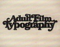 Adult film typography