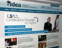 Website Instituto de Enseñanza y Aprendizaje (IDEA)