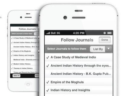 Journals - iPhone App