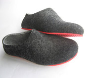 Contrast Colour Sole Felted wool Shoes. Womens sizes